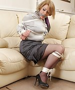 Lovely women who liked being tied tightly