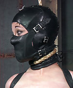 Strapped, clamped, pegged, tightly gagged, ass dildoed