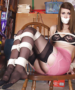 Kemper gets roped tightly and tape-gagged